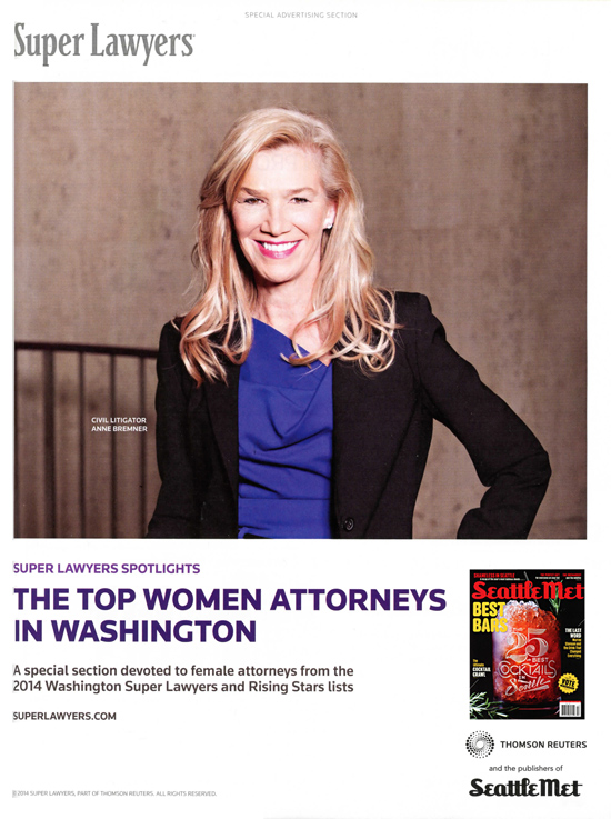 Anne Bremner Top Woman Attorney