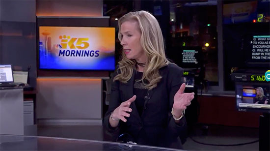 Anne Bremner with Joyce Taylor on KING 5