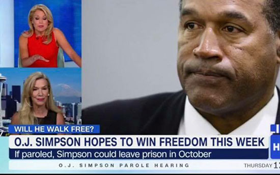 Anne Bremner on HLN. O.J. Simpson parole.